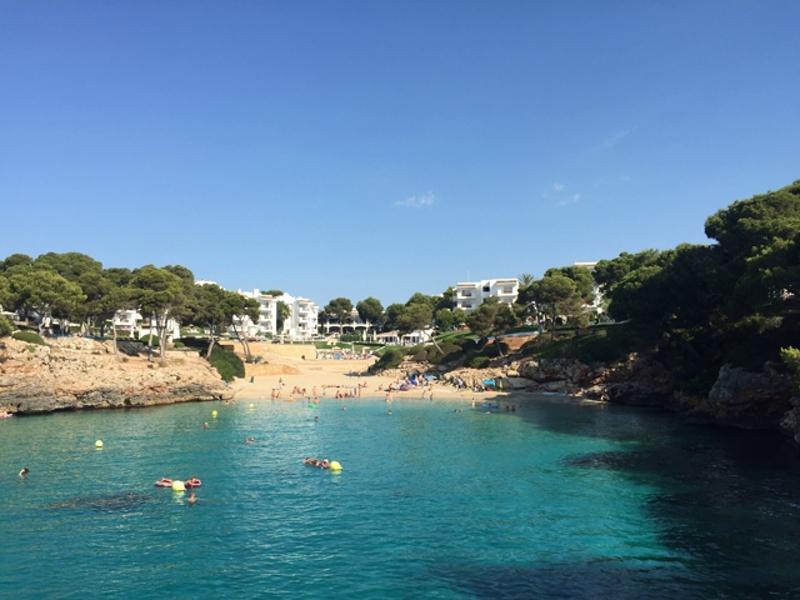 Mallorca Strand in der Bucht der Cala Esmeralda