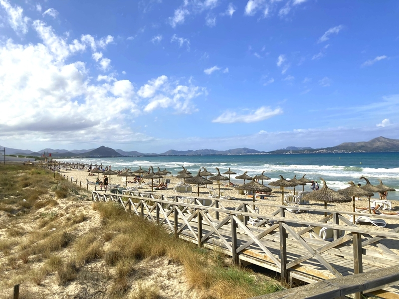 Blick vom Strand Can Picafort in Richtung Playa de Muro