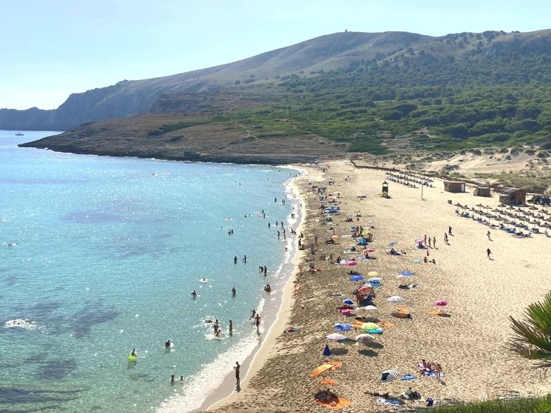 Strand Cala Mesquida auf Mallorca