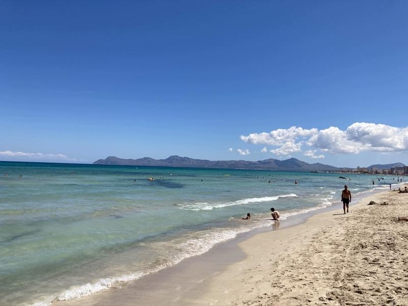 Strand von Can Picafort auf Mallorca
