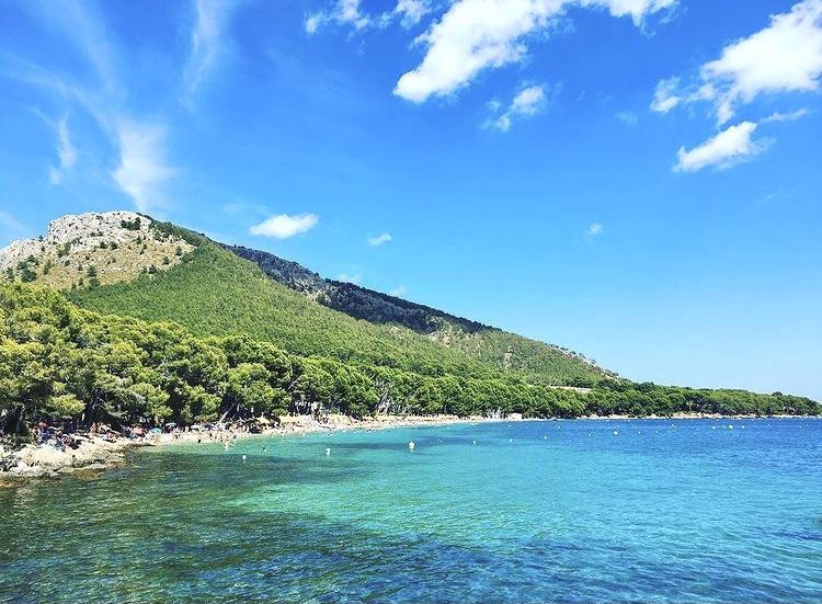 Strand Playa de Formentor auf Mallorca
